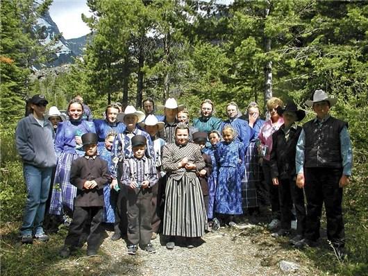 Eine typische Amisch Familie